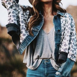ISO Free People Ditsy Denim Jacket!!! NOT FOR SALE